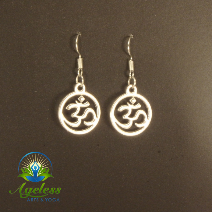 Circle Om Earrings