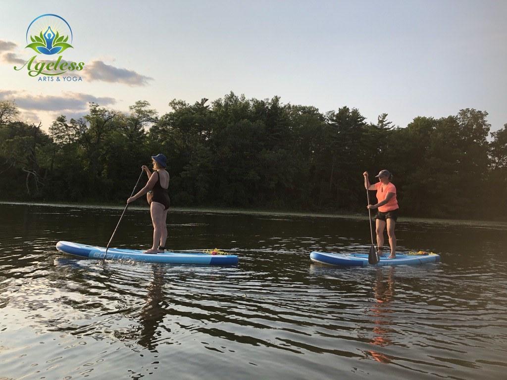 SUP Yoga Pinehurst Lake July 21, 2021