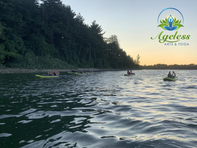 Ageless Arts SUP Yoga - Aug 14, 2021 Guelph Lake