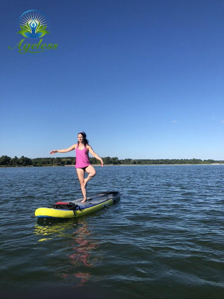 Ageless Arts SUP Yoga - Aug 15, 2021 Guelph Lake