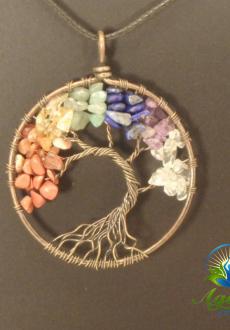 Copper Chakra Tree of Life Pendant
