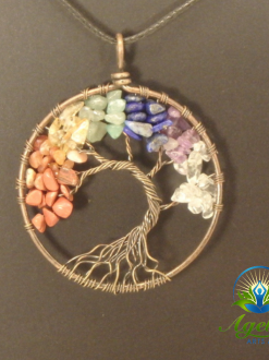 Copper Chakra Tree of Life Pendant