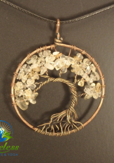 Copper Citrine Tree of Life Pendant